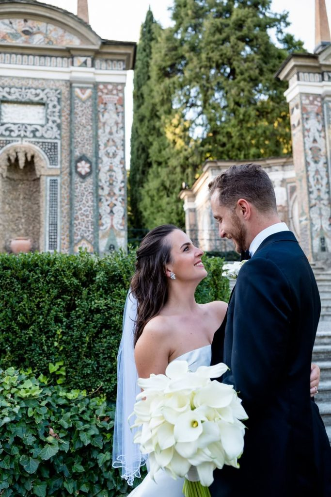 Wedding photos at Villa d'Este