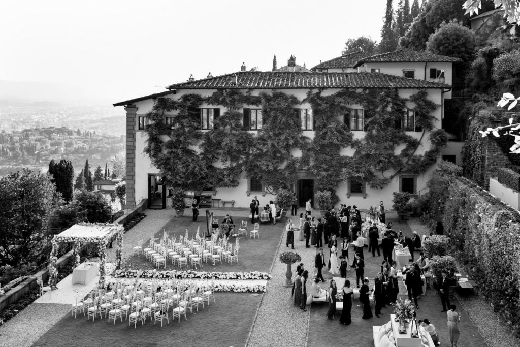 wedding photos at Villa San Michele