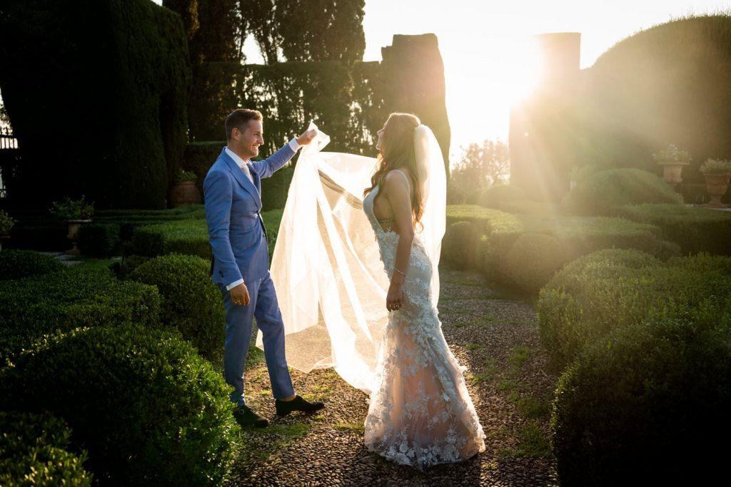 Wedding photos at Villa Gamberaia
