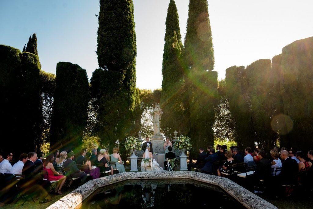wedding photos at Villa la Foce Florence