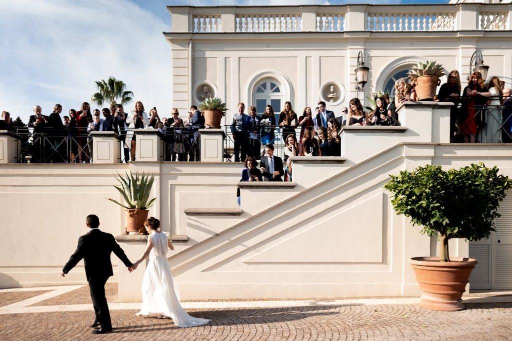Wedding photos at Villa Miani
